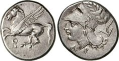 NumisBids: Numismatica Varesi s.a.s. Auction 65, Lot 24 : CORINTHIA - CORINTO - (350-306 a.C.) Statere. D/ Pegaso R/ Testa...