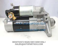 M008T60972 8-98060-854-0 - ISUZU Starter Motor For ISUZU 6HK1 6HH1 6HL1 Engine 24V 5,0KW  M008T60972 8-98060-854-0 - ISUZU Starter Motor For ISUZU 6HK1 6HH1 6HL1 Engine 24V 5,0KW  Product Name Isuzu Forward for starter   Car vehicle model engine model  Forward FRD FRR FRD-S FRR-S FSD FSR FSD-S FSR-S GSR FTR GTR 6HH1  FRD FRR FRD-S FRR-S NRR 6HL1  FRD FRR FSR GSR FTR GTR FTS FVZ 6HK1 Starter Motor, Car Vehicle, Engineering, Vehicles, Model, Scale Model, Car, Technology