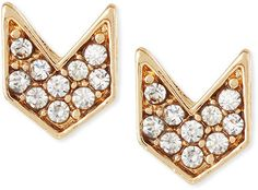 Jules Smith Designs Chevron Crystal Stud Earrings on shopstyle.com