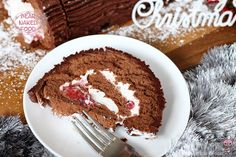 Bear Naked Food Dark Chocolate Roulade with Roasted Strawberries Mouss