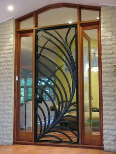 Decorative screen for a residential front door