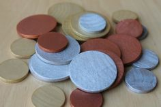 DIY toy coins.