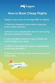 Save up to 40% on your next flight. Hopper tells you when to fly & buy!