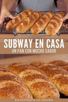 Sandwich Buns Recipe, Sandwich Bread Recipes, Subway Rolls Recipe, Cooking Bread, Cooking Recipes, Healthy Recipes, Herb And Cheese Bread Recipe, Subway Bread, Pan Bread