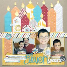 Eleven Years...Birthday Layout