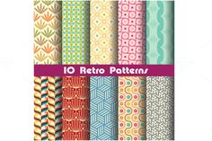 Check out retro pattern set 4 by Watchada's factory on Creative Market