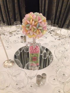 Sweet trees at the Dorcester Hotel London. Sweet Trees, Kid Table, London Hotels, Centre Pieces, Bouquet, Table Decorations, Kids, Wedding, Beautiful