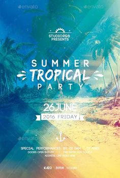 Summer Party Flyer Flyer Template…