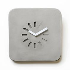 "designbinge: "" Life in Progress Concrete Clock LYON BETON """