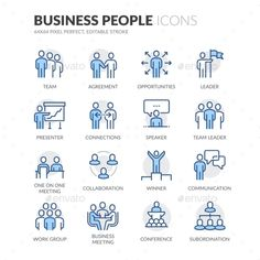 Line Business People Icons. Download here: https://graphicriver.net/item/line-business-people-icons/17683726?ref=ksioks