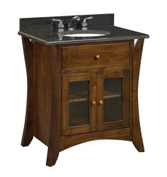 "Vanity Product | Amish 33"" Hesston Shaker Single Bathroom Vanity Cabinet"