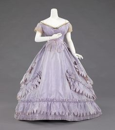 Charles Frederick Worth Evening Ensemble, Met Museum, c. 1862-65. by Susan  happy