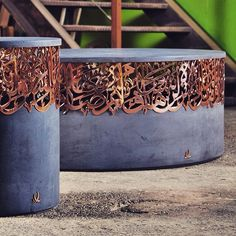 Concrete and red copper calligraphy part of Iyad naja collection iyadnaja@gmail.com