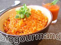 Quinoa façon risotto rouge Blog cuisine bio - Recettes bio Cuisine bio sans gluten sans lait