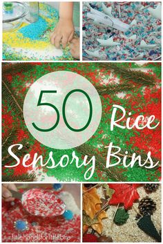 The Best Rice Sensory Bins All Year Long  50+ Unique Ideas For Each Season & Holidays The best rice sensory bins! Rice is a wonderfully easy and inexpensive sensory bin filler to enjoy any time of the year and in such a variety of ways. We love the feel of plain white rice over here, but we ...