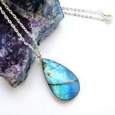 $48 Labradorite Necklace now featured on Fab.