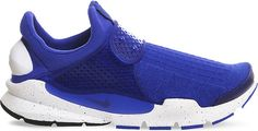 In 2004, the Nike Sock Dart trainers broke boundaries in fabric innovation and fit - ushering in the next generation and garnering cult status. This minimalist design has a precision-knitted upper developed using computerised fabric technology with a colour-coordinating transparent midstrap and sleek speckled midsole. Its clean-lined, laceless silhouette is finished with a branded heel unit and grooved traction outsole. Nike trainers Pull on Sock Dart knitted upper, perforated plastic…
