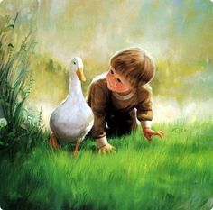 Hello there Mr. Duck. lovely painting