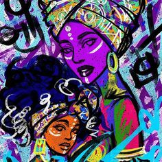WEBSTA @ dope_black_art - By - This is how I'm going to grow in mind and spirit. Through art. Since I've been creating everyday all I want to do is learn more. Starting with the black women. The most beautiful thing in this world to African American Artwork, African Artwork, Black Love Art, Black Girl Art, Street Art, Black Art Pictures, By Any Means Necessary, Art Africain, Black Artwork