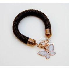 Black Butterfly Toolittle Rope Bracelet #rope bracelet