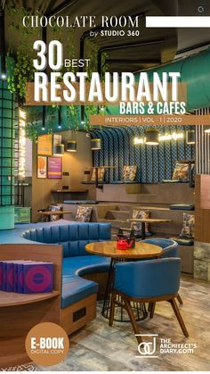 30 Best Restaurant Interior design in India is a collection of amazing Restaurant + Cafes + Bars design around the country, with this E-Book we believe to provide design inspiration to the readers. Also, the e.book is a well-curated design from the most innovative and established design firms. Restaurant Interiors, Restaurant Interior Design, Cafe Interior, Cafe Restaurant, Cafe Bar, Design Firms, Restaurants, Hotels, Design Inspiration