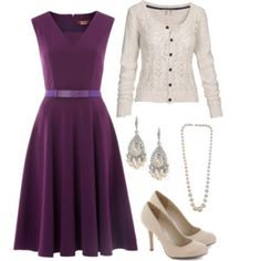 Purple and Ivory