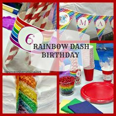 This Rainbow Dash Birthday Party is super cute and perfect for any girl who loves My Little Pony!