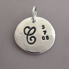 Sterling Silver Hand Stamped Charm for Mother's by esdesigns, $18.00