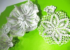 doily dipped in slip and fired