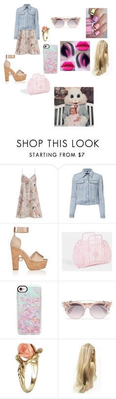 """Happy Easter"" by lauren-paul-sets ❤ liked on Polyvore featuring Zimmermann, J Brand, Nicholas Kirkwood, Casetify, Jimmy Choo, Vintage, Easter, Bunny, fabulous and collection"