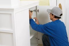 How to Install Concealed Euro-Style Cabinet Hinges - This Old House Hidden Cabinet, Hidden Hinges, Concealed Hinges, Kitchen Cabinets Door Hinges, Hallway Cabinet, Cabinet Doors, European Cabinet Hinges, Types Of Doors, Cabinet Styles