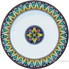 Deruta Italian Charger Plate - Geometrico  sc 1 st  Pinterest & Italian Ceramic Dinner Plate   Italian Pottery   Pinterest   Dinners ...