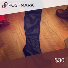 Leather thigh high heels Very good condition Shoes Over the Knee Boots