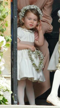 Princess Charlotte at St Mark's church for the wedding of Pippa Middleton and James Matthews. May 20 2017.