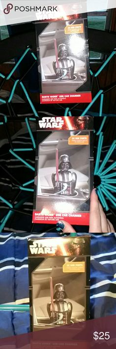 Star wars charger Stars wars darth vader charger ..super cute and cool.. Im just not a star wars van at all! 😵💔!!!. Brand new!  2 x usb...star wars charger...!! Star Wars Other