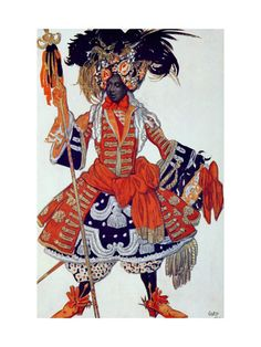 Costume Design For the Queen's Guard from Sleeping Beauty 1921 by Leon Bakst