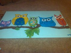 owls painted by RAP