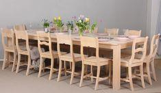 Iso koivupöytä 280x110 cm. Ruokapöytä, Ruokailu