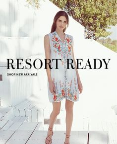 Browse the latest look book collections designed & styled by Johnny Was. Sophisticated, casual, flowy & romantic looks for the Bohemian spirit. Romantic Look, Resort Style, Johnny Was, Spring Summer, Bohemian, Elegant, Casual, Fabric, Fashion Design