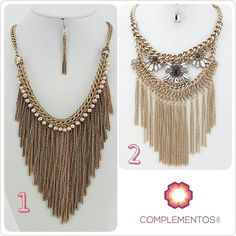 Collares super chic y bohemio Cuál es tu favorito: Opción #1 ò Opción #2? Para más info contactanos : 809 853 3250 / 809 405 5555 Pagos a través de Paypal Delivery Envoltura disponible #newarrivals #available #necklace #bohemian #oldgold #glam #shine #accesories #byou #becomplete