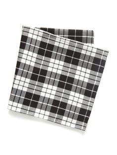 Brady Plaid Pocket Square