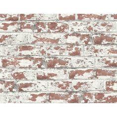 Brick Wallpaper, Vinyl Wallpaper, Wallpaper Roll, Peel And Stick Wallpaper, Whitewash Brick Backsplash, Lillian August, White Wash Brick, Drops Patterns, Exposed Brick Walls