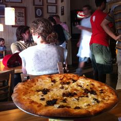 Pizza is so good! Bacon, pineapple, mozzarella, and feta white pie from Little Deli. Located at Woodrow Ave. White Pie, Good Pizza, Hawaiian Pizza, Deli, Mozzarella, Pineapple, Bacon, Texas, Recipes