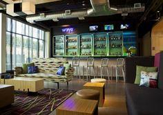 Aloft Phoenix Airport Hotel bar, by W Hotels