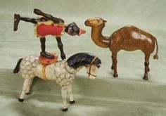 Other People's Lives: 220 Three American Carved Wooden Circus Animals by Schoenhut
