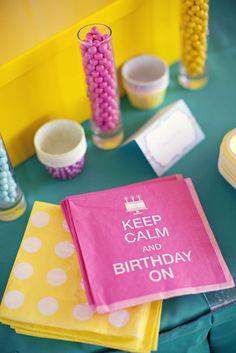 Chevron Candy-Colored Birthday Party | POPSUGAR Moms