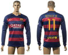 http://www.xjersey.com/201516-barcelona-11-neymar-jr-home-long-sleeve-thailand-jersey.html 2015-16 BARCELONA 11 NEYMAR JR HOME LONG SLEEVE THAILAND JERSEY Only 33.11€ , Free Shipping!