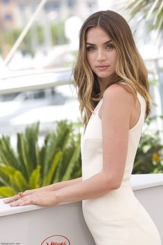 """Ana de Armas at """"Hands Of Stone"""" photocall during the 69th annual Cannes Film Festival."""