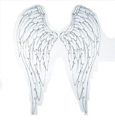 angel wings tattoo to cover my first tat