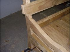 bench construction - the arm section